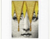 yellow l Lina Cavalieri print