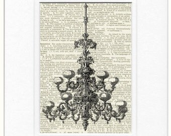 chandelier no.1, 1851 Crystal Palace print