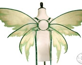 RESERVED for Tatiana- Bella No. 30 - Large Fairy Wings in Light Green, Green and Gold