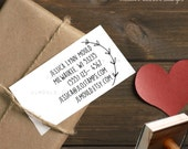 0389 JLMould Custom DIY Business Card Rubber Stamp with your Information on it Personalized Wedding Photography Business Modern Font