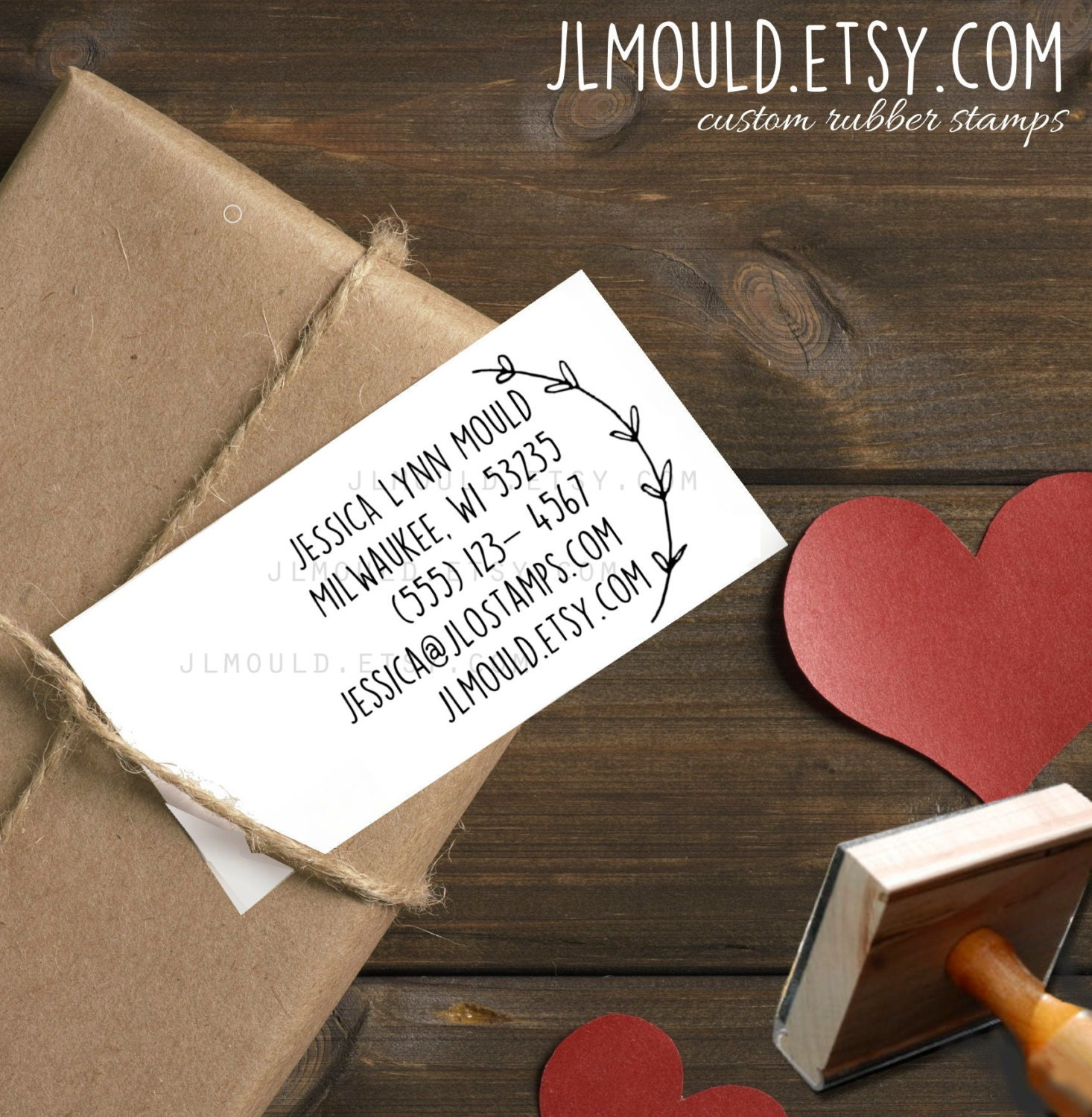 0389 jlmould custom diy business card rubber stamp with your