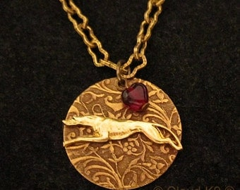 """GREYHOUND JEWELRY Necklace. WHIPPET  """"I Heart"""" My Dog. Engravable Gold Charm Pendant.Suitable for Engraving.Racing Greyhound Whippet Rescued"""