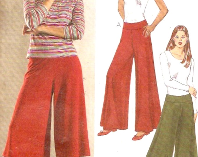 Yoga Style Pants and culottes Stretch Knit Athletic style sewing pattern Exercise wear Kwik Sew 3384 Size XS to Medium cut