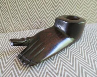 Vintage Wooden Carved Foot