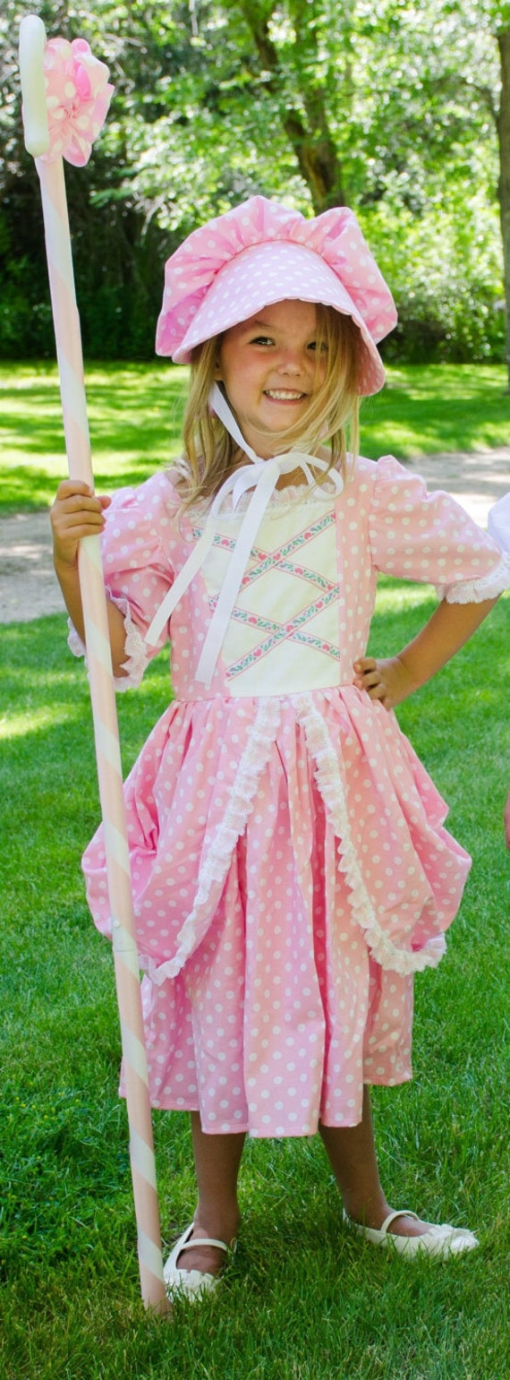 Vintage Style Children's Clothing: Girls, Boys, Baby, Toddler Cute Little Bo Peep costume dress and hat. NEW $70.00 AT vintagedancer.com