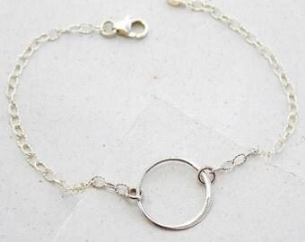 Eternity Circle Bracelet | Layering Bracelet | Delicate Everyday Bracelets | Silver or Gold