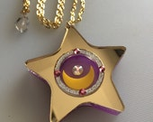 STAR LOCKET Sailor Moon laser cut necklace (crystal in move)