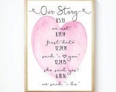 DIY wedding sign, Printable Sign, Darling Sign, Personalized Our Story Sign, PDF
