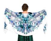 Butterfly Wings Scarf, Butterfly Wrap, White Scarf, Shawl Wrap, Bridal Scarf, Wedding Wrap, Wedding Scarf, Large Scarf, Chiffon Scarf