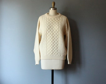 vintage fisherman sweater / made in scotland / L