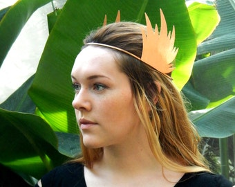 Hermes Wings Headband, Hammered Copper Headband, Winged Headband, Boho Headband, Festival Headband, Greek Headdress, Goddess Headband