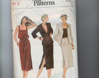 1970s Vintage Sewing Pattern Vogue 7335 Misses Jacket Skirt Camisole Top Dress 14 16 Bust 36 38  70s  99