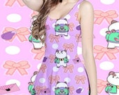 Bee and Puppycat Poo Monster All Over Print Dress