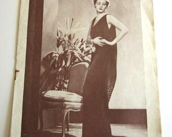Vintage French Magazine Mode Pratique May, 1935 Fashion Sewing and Knitting Patterns