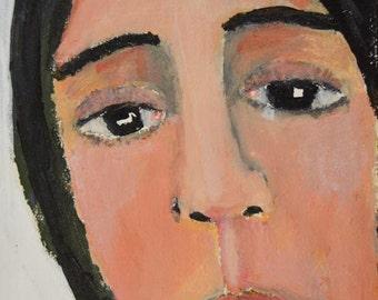 Digital Print. Woman Portrait Print. Home Art Decor. Gift for Friend. Women Gift. Wall Art Print.
