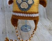 Custom Crochet Rubble Earflap Hat