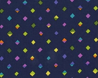 Diamonds Navy Sarah Campbell Michael Miller Fabric 1 yard