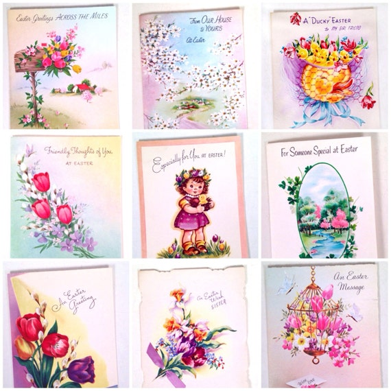 Easter cards - Lot of 15