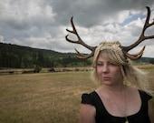 Daughter of Diana 10 Point Antler Headdress