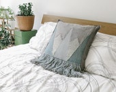 handwoven tapestry pillow cover | chalybeous