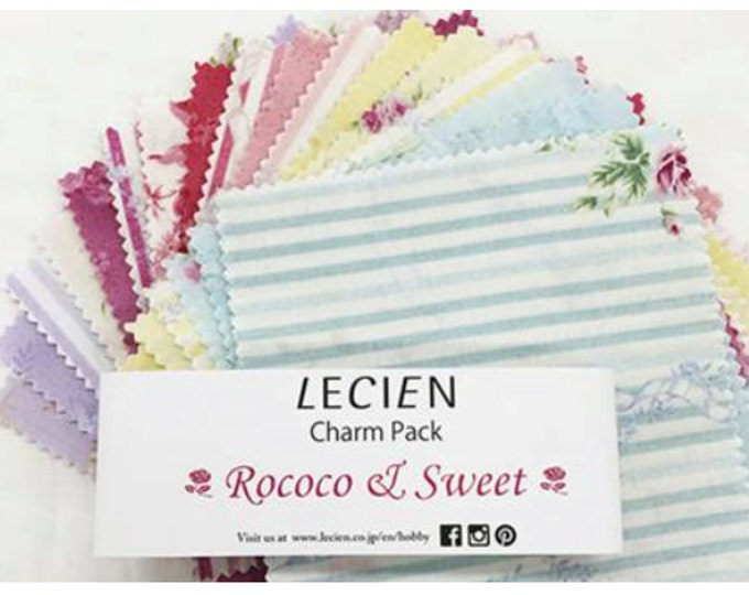 "Lecien Japan 5"" x 5"" Charm Pack Rococo & Sweet set 42 pieces CP-SPR15"