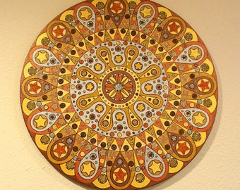 Metallic Glitter Mandala Original Painting