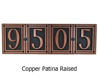 Tile like Address Plaque Home Numbers 19 x 6 inches enough for 4 numbers