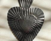 Vintage Tin Mexican Milagro Heart
