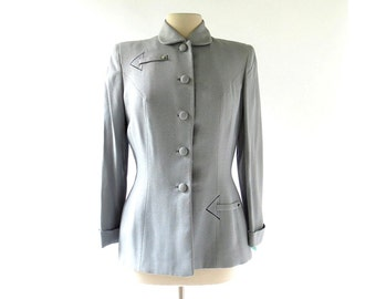 Vintage 1940s Jacket / Thataway 40s Jacket / Womens Blazer / Medium M