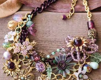 Hand Beaded Flower Necklace, Bohemian Bib Necklace, Featured in Jewelry Affaire Magazine Summer 2015