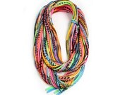 Neon Scarf, Gifts For Her, Gift Ideas, Neon, For Her, Tribal, Festival, Festival Accessories, Hipster, Birthday, Cotton Scarf, Unique Scarf