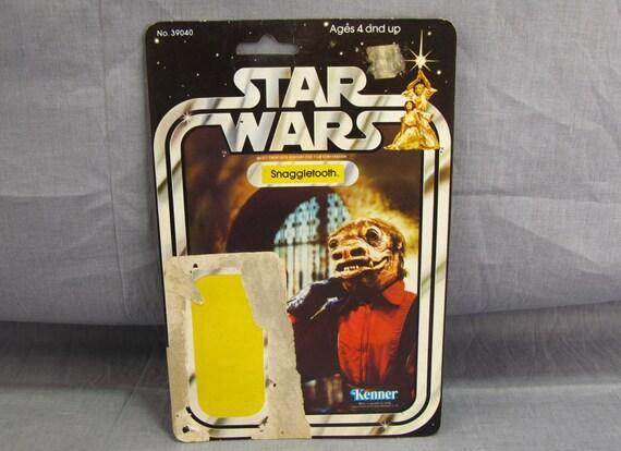 Snaggletooth star wars card back original cardback 21 back for Home decor kenner