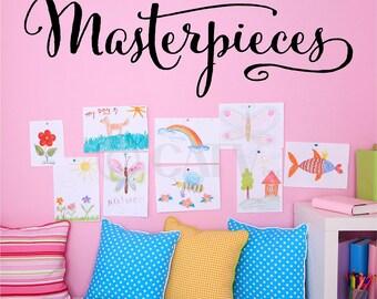 Masterpieces vinyl lettering art decal wall sticker kids play room preschool decal