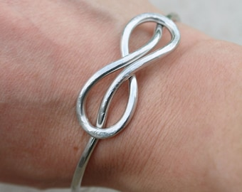 Infinity Bracelet, Bangle, Silver, Aluminum Wire