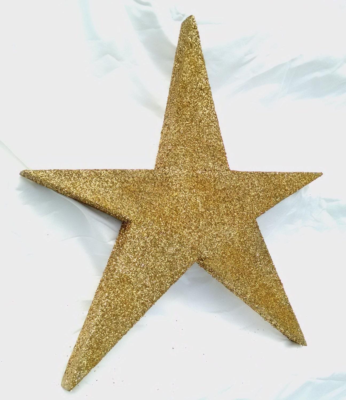 Glitter star gold