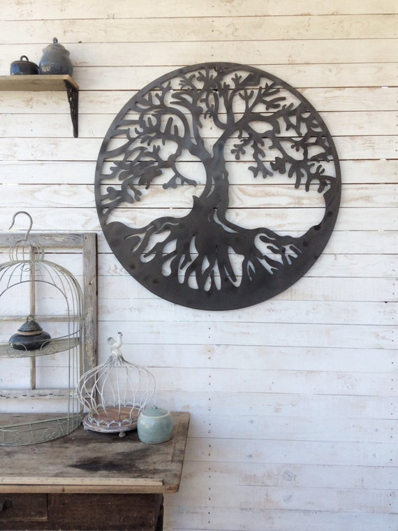Wall decor for country home : Metal wall art decor tree of life country home by