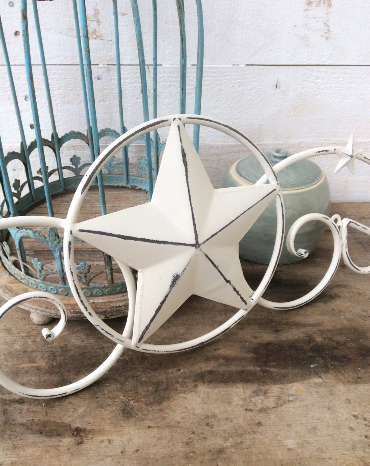 White Star Wall Decor : Metal star wall decor white home texas by