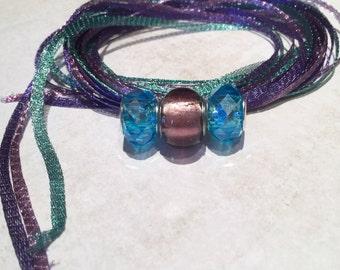 WireLace Charisma Bracelet Kit,Purple, Lilac, and Sea Foam, DIY Bracelet Kit, Kit A-21
