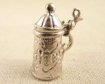 Vintage Sterling Ornate German Beer Pint