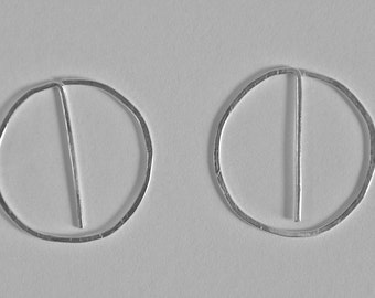 Sterling Silver Pin-Hoops