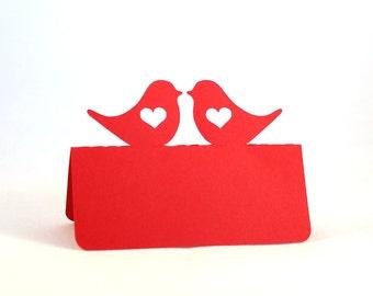 Love Bird Place Cards Set of 100 Heart Wedding