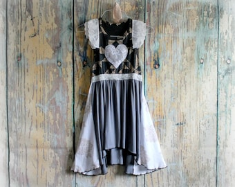 Romantic Lace Top Upcycled Clothes Shabby Boho Shirt White Mori Girl Top Women's Babydoll Top Country Clothing Vintage Style Top S/M 'MAISY