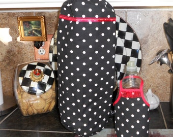 Plastic Bag Storage Tote / Dish Soap Apron / Kitchen Set / SALE