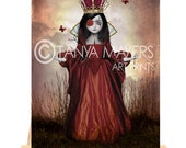 Queen Of Hearts - Aceo Card  - Fairytale Art