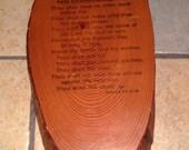 The Ten Commandments Decoupaged Plaque