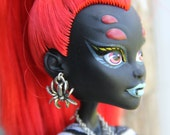 Gothic Spider Fashion Doll Earrings Doll Jewelry fits most Fashion doll types