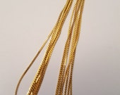 Gold Herringbone Finished Chain 24 Inches  - Set of 7