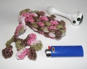 Glass Pipe Case, Pink Camo Pipe bag, Glassware bag, Drawstring cushioned small bag