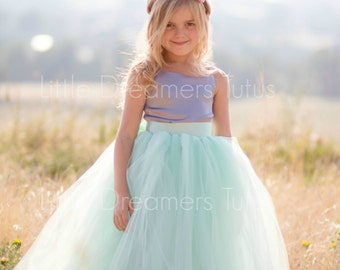 NEW! The Grace Dress in Grey and Mint - Flower Girl Tutu Dress