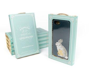 Bunny iPhone 6 Plus Case, Woodland Rabbit iPhone 5S Case, Rustic Galaxy S6 Edge, iPhone 6 Case, iPhone 5C